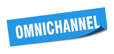 omnichannel sticker. omnichannel square sign. omnichannel. peeler