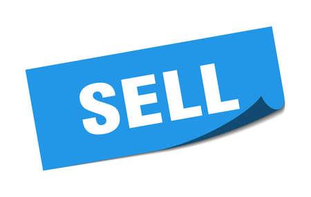 sell sticker. sell square sign. sell. peeler Illusztráció