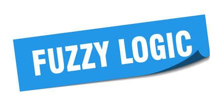 fuzzy logic sticker. fuzzy logic square sign. fuzzy logic. peeler