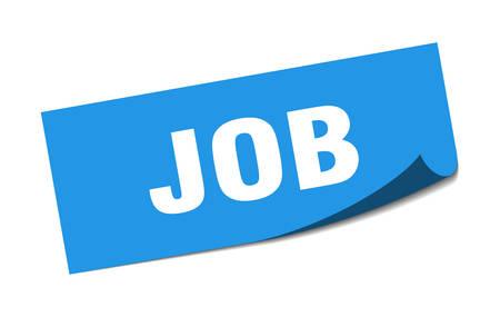 job sticker. job square sign. job. peeler Illusztráció