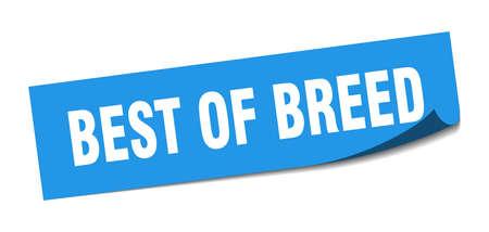 best of breed sticker. best of breed square sign. best of breed. peeler Illusztráció