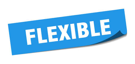 flexible sticker. flexible square sign. flexible. peeler