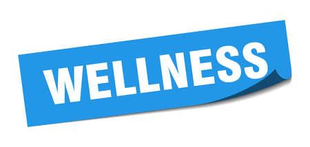 wellness sticker. wellness square sign. wellness. peeler