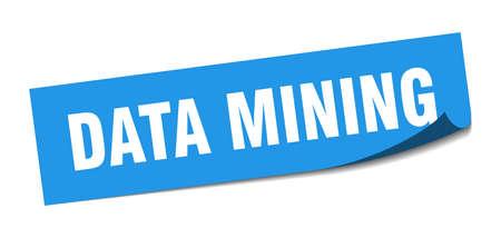 data mining sticker. data mining square sign. data mining. peeler