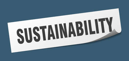 sustainability sticker. sustainability square sign. sustainability. peeler
