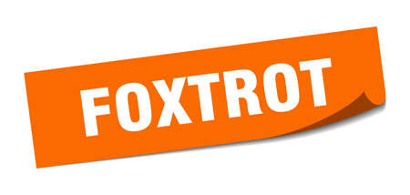 foxtrot sticker. foxtrot square sign. foxtrot. peeler