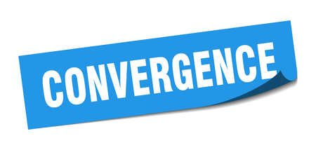 convergence sticker. convergence square sign. convergence. peeler