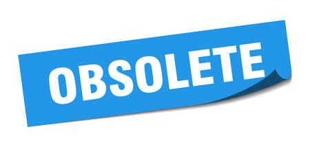 obsolete sticker. obsolete square sign. obsolete. peeler