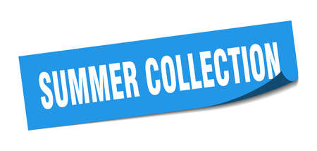 summer collection sticker. summer collection square sign. summer collection. peeler
