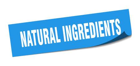 natural ingredients sticker. natural ingredients square sign. natural ingredients. peeler