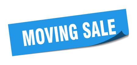 moving sale sticker. moving sale square sign. moving sale. peeler Illusztráció