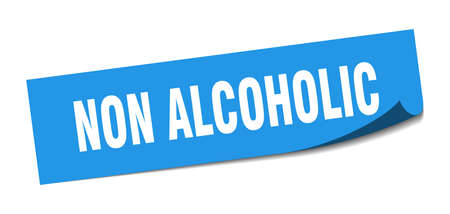 non alcoholic sticker. non alcoholic square sign. non alcoholic. peeler