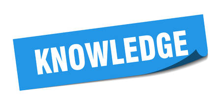 knowledge sticker. knowledge square sign. knowledge. peeler