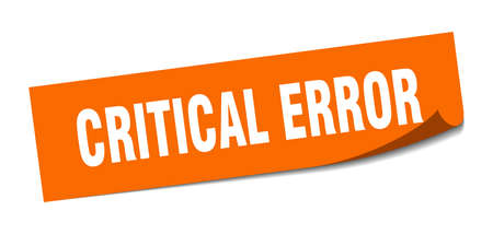 critical error sticker. critical error square sign. critical error. peeler 向量圖像