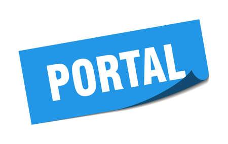 portal sticker. portal square sign. portal. peeler