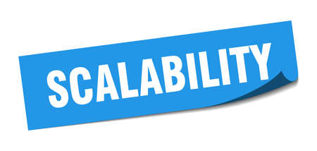 scalability sticker. scalability square sign. scalability. peeler 向量圖像