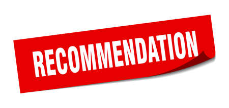 recommendation sticker. recommendation square sign. recommendation. peeler Ilustracja