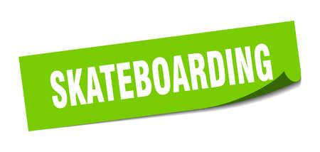 skateboarding sticker. skateboarding square sign. skateboarding. peeler