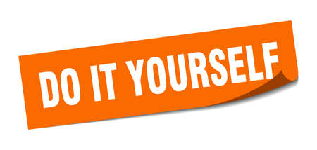 do it yourself sticker. do it yourself square sign. do it yourself. peeler Stock Illustratie