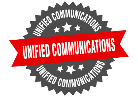 unified communications sign. unified communications circular band label. round unified communications sticker
