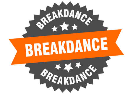 breakdance sign. breakdance circular band label. round breakdance sticker Çizim