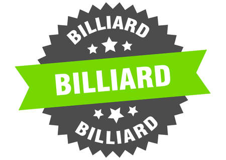 billiard sign. billiard circular band label. round billiard sticker