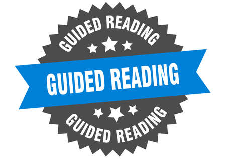 guided reading sign. guided reading circular band label. round guided reading sticker Illusztráció