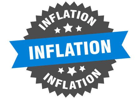 inflation sign. inflation circular band label. round inflation sticker