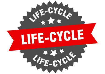 life-cycle sign. life-cycle circular band label. round life-cycle sticker