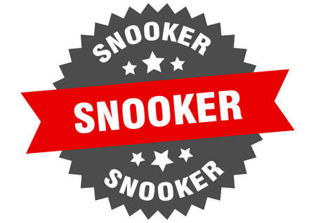 snooker sign. snooker circular band label. round snooker sticker