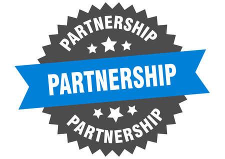 partnership sign. partnership circular band label. round partnership sticker