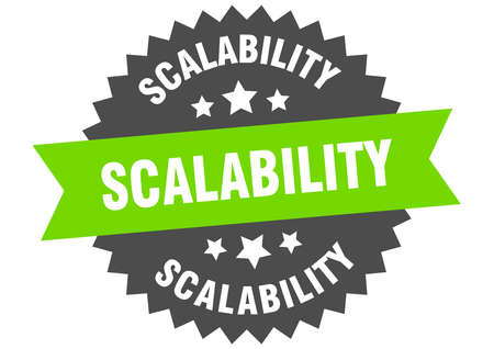 scalability sign. scalability circular band label. round scalability sticker