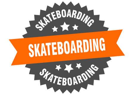 skateboarding sign. skateboarding circular band label. round skateboarding sticker