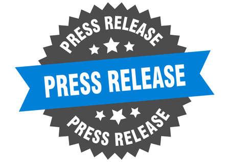press release sign. press release circular band label. round press release sticker Ilustración de vector
