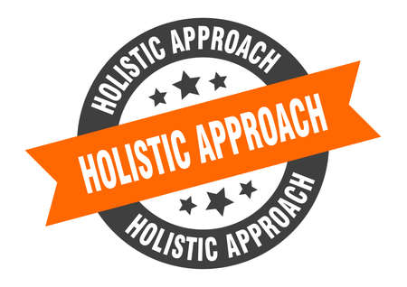 holistic approach sign. holistic approach round ribbon sticker. holistic approach tag Иллюстрация