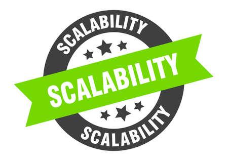 scalability sign. scalability round ribbon sticker. scalability tag 向量圖像