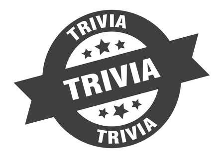 trivia sign. trivia round ribbon sticker. trivia tag Illustration