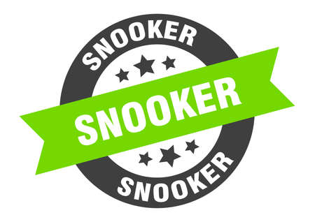 snooker sign. snooker round ribbon sticker. snooker tag