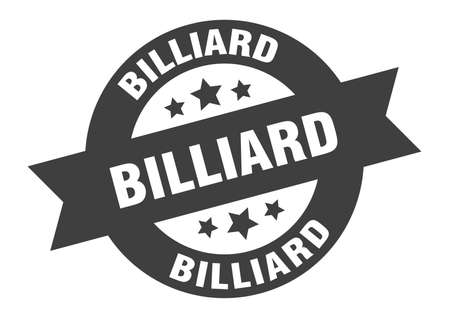 billiard sign. billiard round ribbon sticker. billiard tag Illusztráció