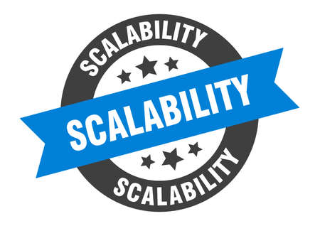 scalability sign. scalability round ribbon sticker. scalability tag 向量圖像