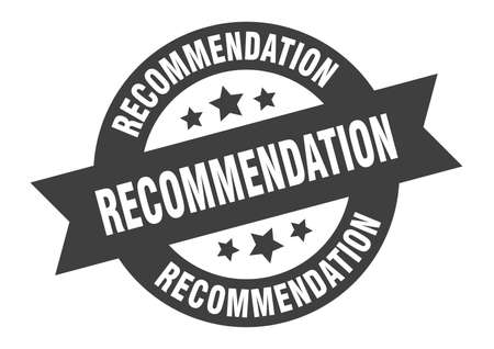 signe de recommandation. autocollant de ruban rond de recommandation. balise de recommandation Vecteurs