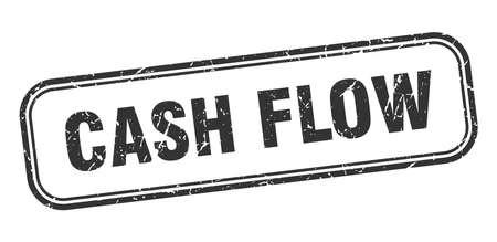 cash flow stamp. cash flow square grunge black sign. cash flow tag Stock Illustratie