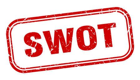 swot stamp. swot square grunge red sign. swot tag Illustration