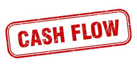 cash flow stamp. cash flow square grunge red sign. cash flow tag