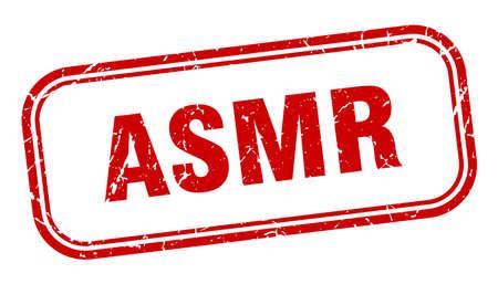 asmr stamp. asmr square grunge red sign. asmr tag