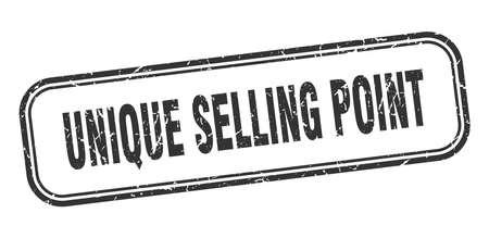 unique selling point stamp. unique selling point square grunge black sign. unique selling point tag