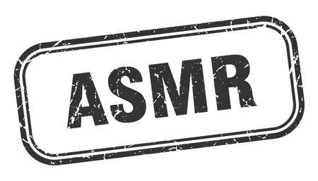 asmr stamp. asmr square grunge black sign. asmr tag