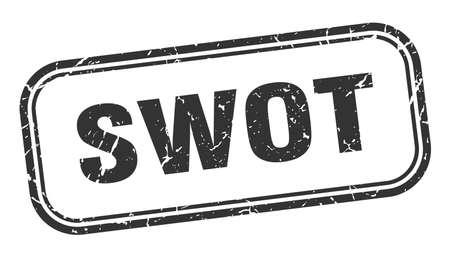 swot stamp. swot square grunge black sign. swot tag Illustration