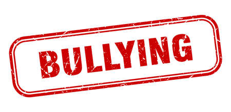 bullying stamp. bullying square grunge red sign. bullying tag Illustration