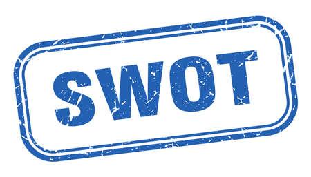 swot stamp. swot square grunge blue sign. swot tag